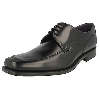 Mens Loake Black Polished Leather Shoes Artemis