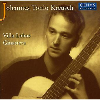 Villa-Lobos/Ginastera - Etudes for Guitar/Guitar Sonata [CD] USA import
