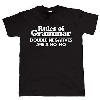 Rules Of Grammar, Mens Funny T Shirt