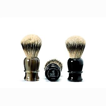 Shaving brush, hand-tied , hand-filled, genuine black horn handle Direct from France