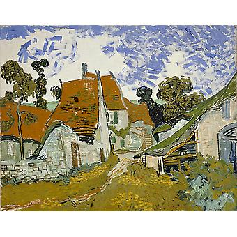 Vincent Van Gogh - Street in Auvers sur Oise Poster Print Giclee