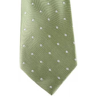 David Van Hagen Polka Dot Tie - Green/White
