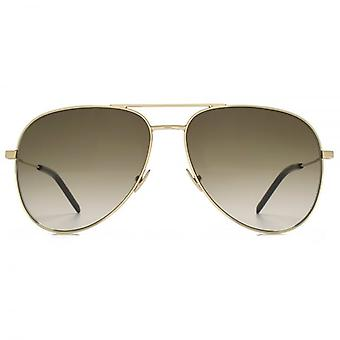 Occhiali da sole Aviator Saint Laurent Classic 11 In oro marrone