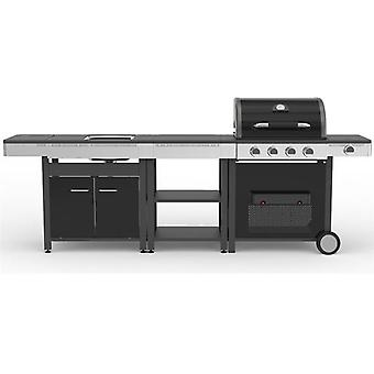 Ldk Gas BBQ 4 burner + side Sink And Mesa 82158 (Garden , Barbecue , Barbecue)