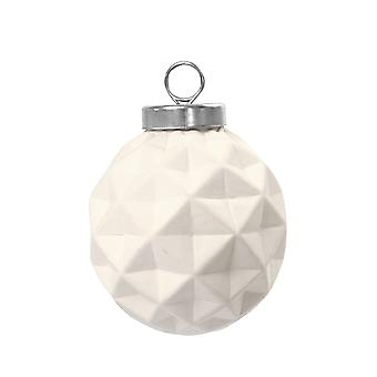 6 Ceramic Harlequin Christmas Baubles to Decorate - 50mm