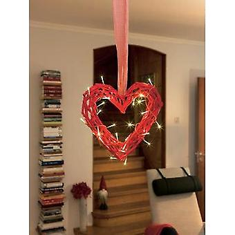 LED picture Heart Warm white LED Konstsmide 6217-550 Red