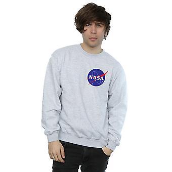 Clásico Insignia pecho Logo sudadera la NASA varonil