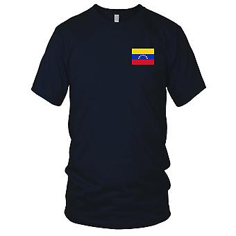 Venezuela Land Nationalflagge - Stickerei Logo - 100 % Baumwolle T-Shirt Herren T Shirt