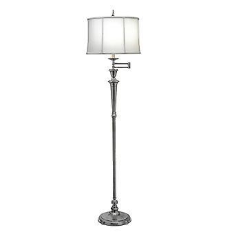 Stiffel Arlington Antique Nickel Adjustable Swing Arm Floor Floor Lamp