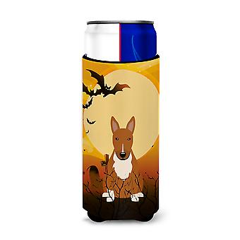 Halloween Bull Terrier Red Michelob Ultra Hugger for slim cans