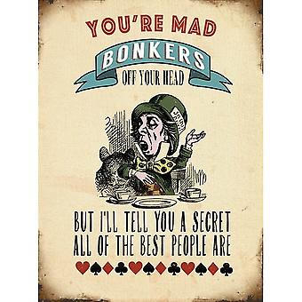 You're Mad Bonkers Wall Sign