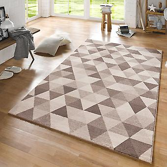 Design carpet Prism Brown cream | 102435