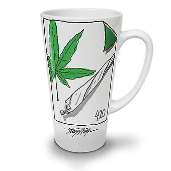 42 Ganja Joint NEW White Tea Coffee Ceramic Latte Mug 17 oz | Wellcoda