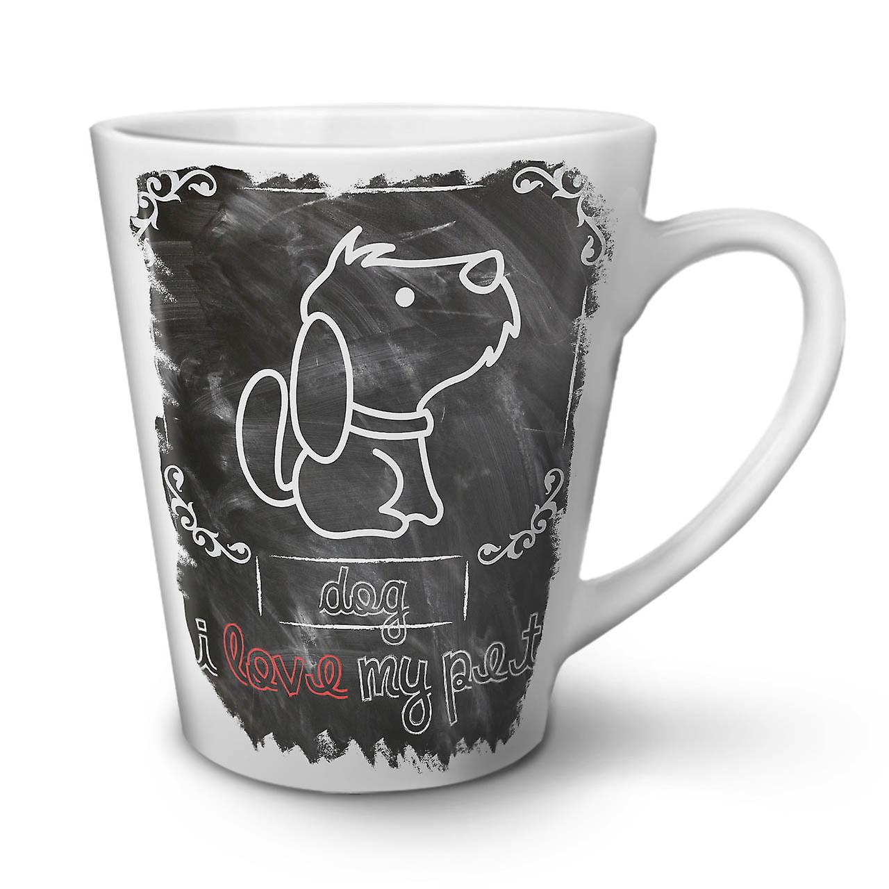 OzWellcoda Blanche Café Latte Nouvelle Céramique Mignon 12 En J'aime Tasse Chien Mon rWeCodBx