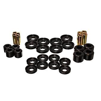 Energy Suspension ENE-5.3142G kontroll Arm bussning Set svart främre Performance polyuretan kontrollarm bussning Set