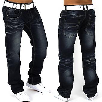 Men's Jeans pants vintage denim clubwear rivets narrow behavior