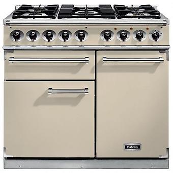FALCON F1000DXDFCRCG 98470 100cm Deluxe Range Cooker, Cream Finish