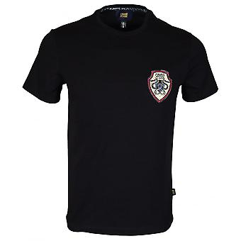 Cavalli Class B3jrb719 Cotton Stretch Snake Logo Black T-shirt