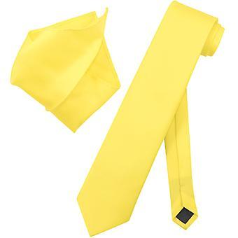 Vesuvio Napoli sólido corbata EXTRA larga pañuelo cuello Tie Set