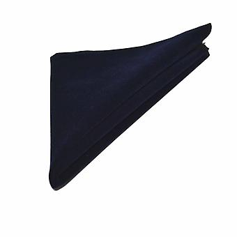 Luxury Navy Blue Velvet Pocket Square, Handkerchief