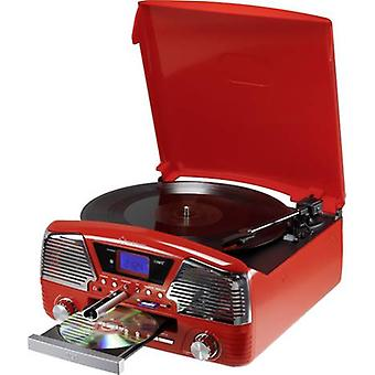 USB turntable Renkforce MT-35 Red