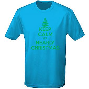 Keep Calm Nearly Christmas Xmas Mens T-Shirt 10 Colours (S-3XL) by swagwear
