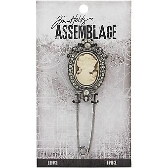 Tim Holtz Assemblage Broach  -Cameo THA20127