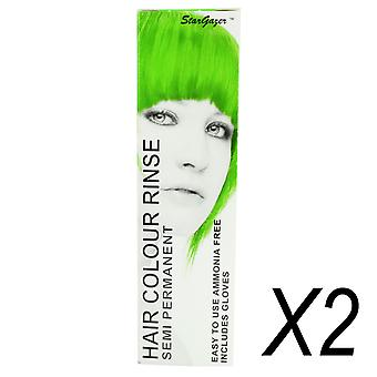 Semi Permanent Hair Dye by Stargazer - African Green x 2 Packs