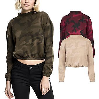 Urban klassikere damer - CAMO rullekrave korte sved sweater