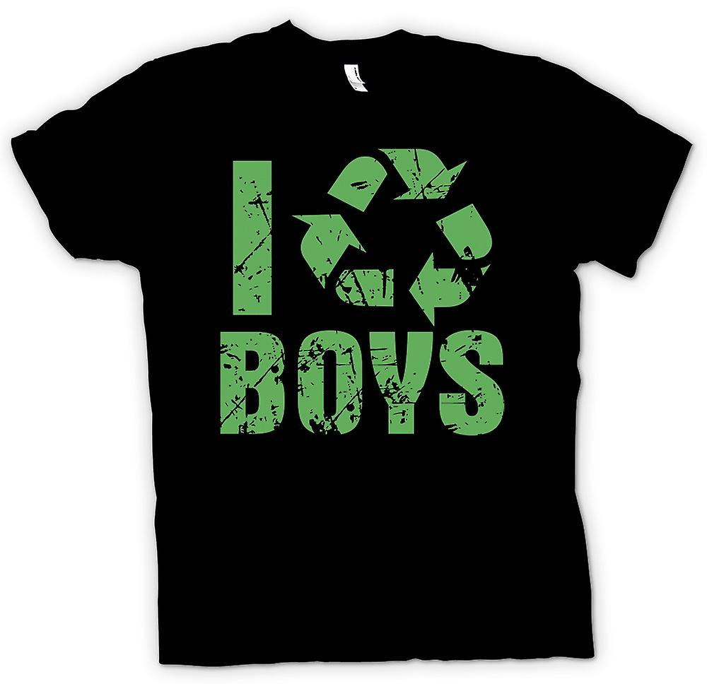 Mens T-shirt - I Love Boys