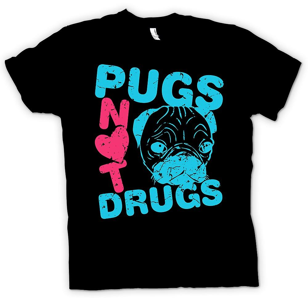 Kids t-shirt-Pugs no drogas divertido