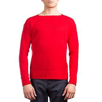 Prada Herren wolle gestrickt Crewneck Sweater rot