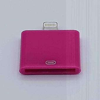 30 Pin Naar Lightning compatible (8 Pin) Kabel Adapter - Voor Ipad / iPhone - Fuchsia