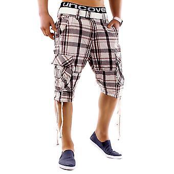 Men's shorts summer smile Bermuda cargo Capri pants vintage casual incl belt