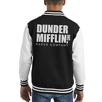 Dunder Mifflin Paper Company The Office USA Kid's Varsity Jacket