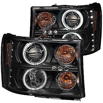 Anzo USA 111125 GMC Sierra Black Clear Projector with Halos Headlight Assembly - (Sold in Pairs)