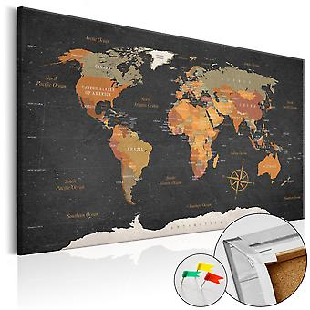 Decorative Pinboard - Secrets of the Earth [Cork Map]