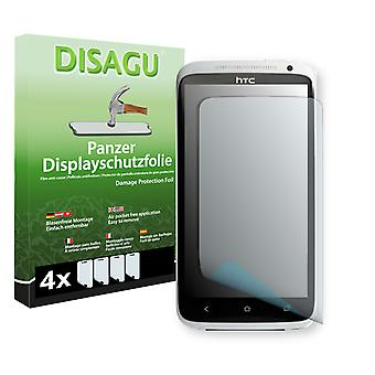 HTC one XL screen protector - Disagu tank protector protector (deliberately smaller than the display, as this is arched)