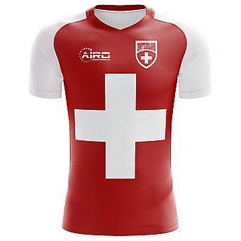 2018-2019 سويسرا العلم مفهوم كرة القدم قميص (الأطفال)