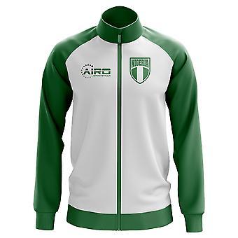 Nigeria concepto pista chaqueta de Futbol (blanco) - niños