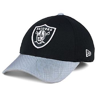 Oakland Raiders NFL nuova Era 39Thirty Sideline elasticizzato aderente cappello