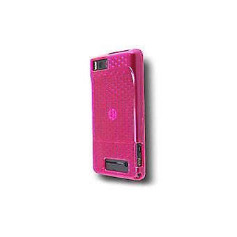 OEM Verizon High Gloss Silicone Case for Motorola Droid X MB810 (Pink) (Bulk Pac