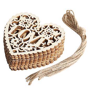 TRIXES bröllop hjärtan älskar dekoration hängen 10st