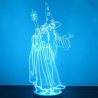 Wizard with Staff LED Acrylic Light