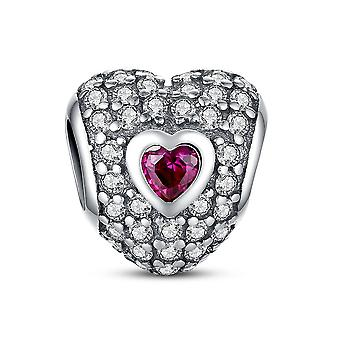 Charm a forma di cuore in argento Sterling