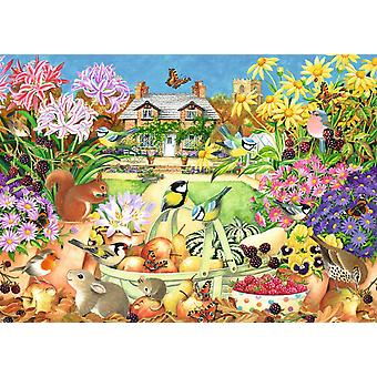 Falcon Deluxe Autumn Garden Jigsaw Puzzle (1000 Pieces)