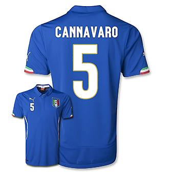 2014-15 Italië World Cup Home Shirt (Cannavaro 5)