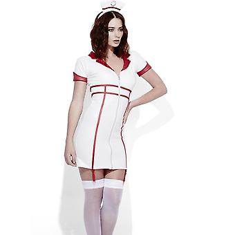 Fever Role-Play Nurse Wet Look Costume, UK 12-14