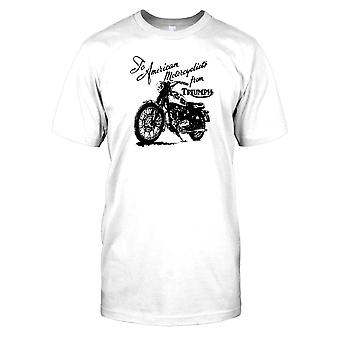 To American Motorcyclists From Triumph Kids T Shirt