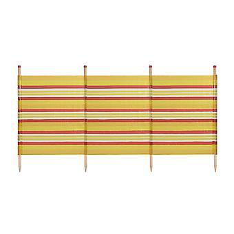 Amarillo impreso rayas estándar exterior cortavientos 4 polos